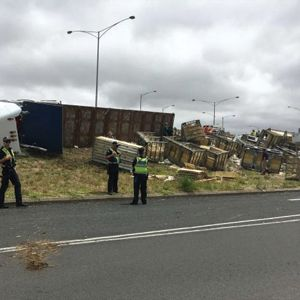 Truck Carrying Thousands Of Chickens Crashes style=