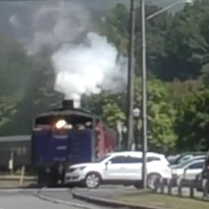 Driver Pulls Out In Front Of Train