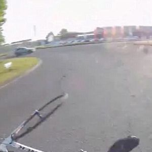 Footage Shows Car Hitting Cyclist And Driving Away