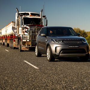 Land Rover Discovery Tows Australian Road Train