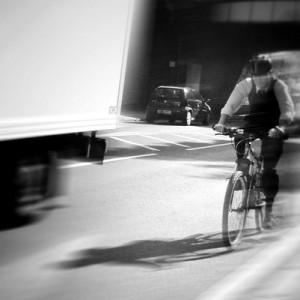 CyclistLorry