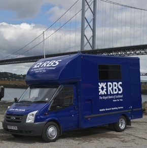 RoyalBankOfScotlandFordTransitMobileBankingVan