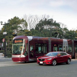 Tram-Car-Mazda-safety technology-vehicle fleet management
