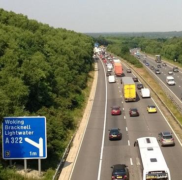 Traffic-motorway-M3-Lightwater-paul_appleyard-fleet-news