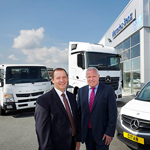 Brian Kempson & Roy Reed at Mercedes Benz, Deeside