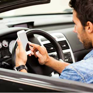 using phones in cars