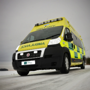 OH - Ambulance in snow OH-badged
