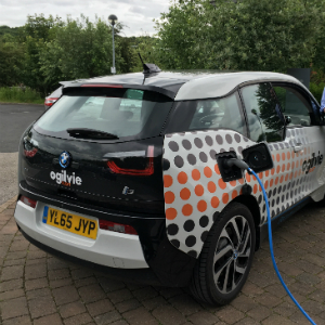 Richard Jessop head of salary sacrifice Ogilvie Fleet with BMW i3