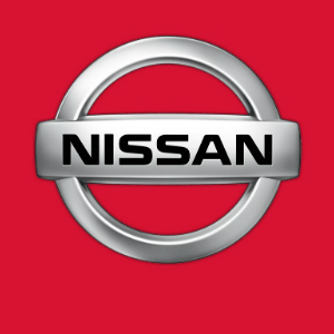 nissan logo red