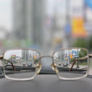 glasses on dash