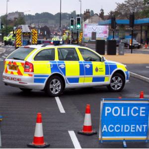 police in road