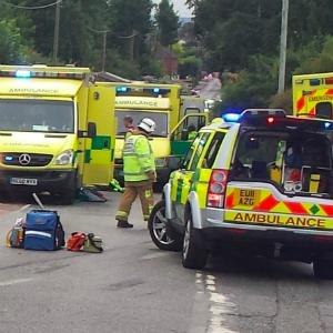 ambulance at crash