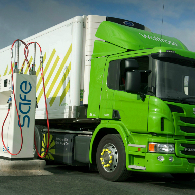 green fuel lorry