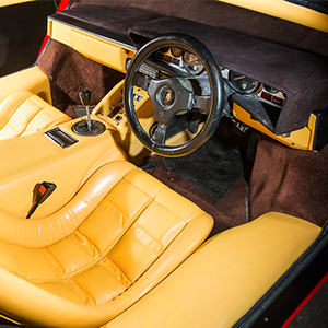 Inside of the 1983 Lamborghini
