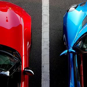 Isotrak - Spilt Blue and Red cars