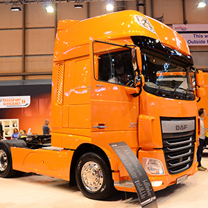 CV Show 2017 - DAF - Yellow Heavy Truck