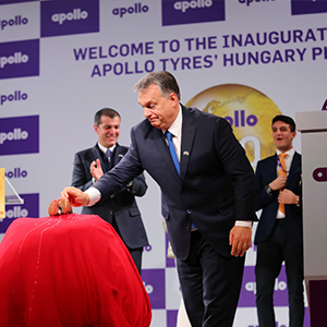 Apollo Tyres' new Hungarian factory