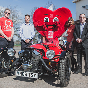 BHF announced as Morgan Motor Company Charity of the Year