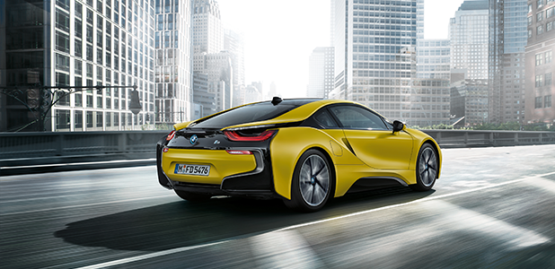 The new BMW i8 Frozen Yellow Edition