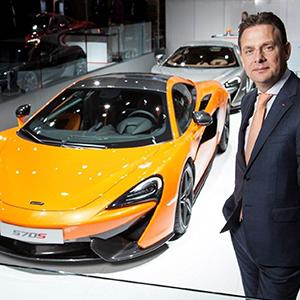 Andy Palmer, Vehicle Line Director at McLaren Automotive Ltd