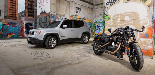 Jeep and Harley partnership