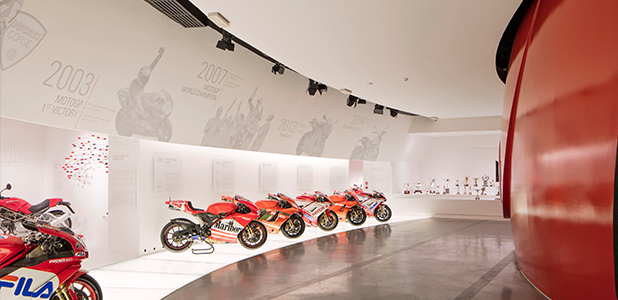 Sunday openings throughout the summer for the Ducati Museum
