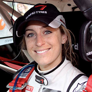 Amy Williams in the co-driving seat