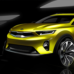 New KIA Stonic - Sketch of front