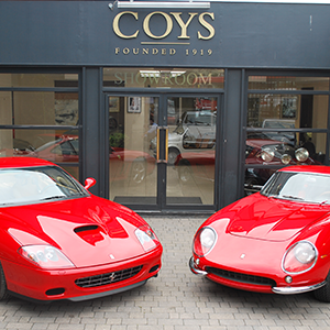 Pre-production Ferrari 575MM next to prototype Ferrari 275 GTB4