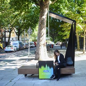 Ford Smart Bench Keeps Pedestrians Connected