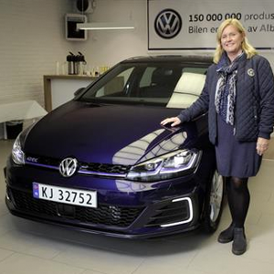 Turid Sedahl Knutsen took delivery of the 150 millionth Volkswagen