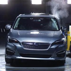 Euro NCAP impact test on Impreza