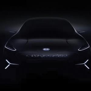 Kia Motors new all-electric concept car teaser