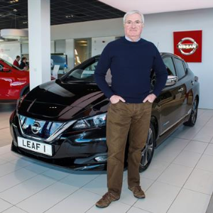 First Customer (Leo Moran) Takes Delivery Of All-New Nissan LEAF