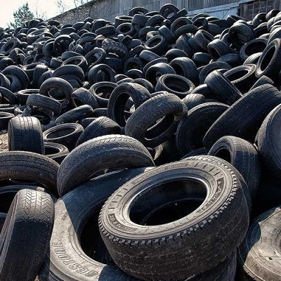 Making tracks in tackling tyre graveyards as new road surface using