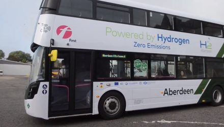 hydrogen-powered double decker bus