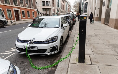 on-street EV charge points