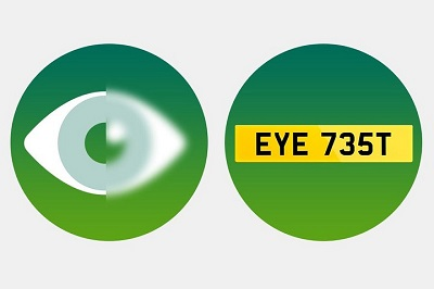 Poster to reming people to test their eyes