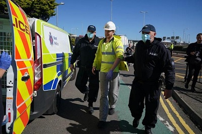 A20 protester arrested