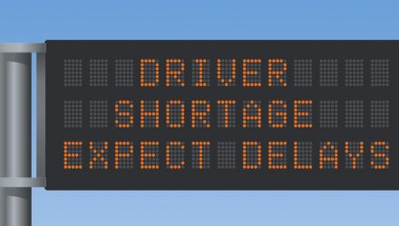 Mock sign saying driver shortage expect delays