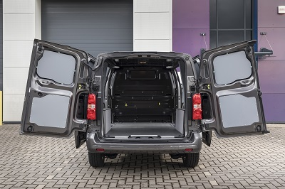 Rear view of Citreon cargo space
