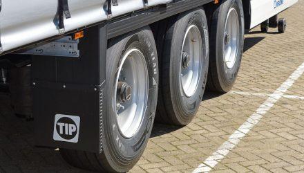 Goodyear tyres on a TIP trailer