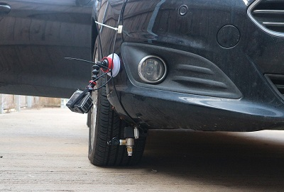 Run Dry Traction System on test car
