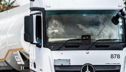 Trainee driver under instruction