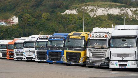 Trucks waiting at Dover