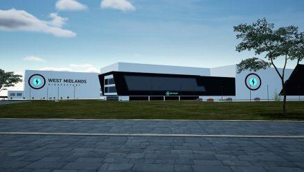 CGI view of West Midlands Gigafactory